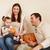 happy smiling family with autumn pumpkins stock photo © dashapetrenko