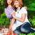 pai · jogar · filha · apple · tree · jogar · criança - foto stock © dashapetrenko