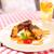 ürü · hús · zöldségek · tányér · sárgarépa · zöldség - stock fotó © dashapetrenko