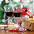 verres · vin · rouge · Noël · décorations · arbre · de · noël · vacances - photo stock © dashapetrenko