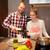 happy couple cooking pasta stock photo © dashapetrenko