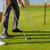 jonge · paar · spelen · golfbaan · golf · oefening - stockfoto © dashapetrenko