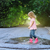 enfant · rouge · pluie · bottes · sautant - photo stock © dashapetrenko