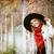 sarışın · kadın · güzel · yeşil · gözleri · bakmak - stok fotoğraf © dashapetrenko