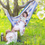 beautiful pregnant woman sitting in hammock in blooming garden stock photo © dashapetrenko