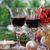 verres · vin · rouge · arbre · de · noël · Noël · décorations · vacances - photo stock © dashapetrenko