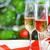 очки · шампанского · Рождества · подарок · настоящее · рождественская · елка - Сток-фото © dashapetrenko