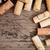 verouderd · wijnfles · houten · textuur · muur - stockfoto © dashapetrenko