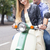 happy young couple by a vintage scooter on the street stock photo © dashapetrenko