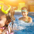 children playing in pool two little girls having fun in the poo stock photo © dashapetrenko