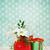 bouquet of winter flowers with present stock photo © dashapetrenko