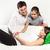 young pregnant family relaxing on the sofa stock photo © dashapetrenko
