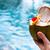 kokosnoot · cocktail · drinken · stro · zwembad · bloem - stockfoto © dashapetrenko