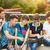 diákok · dolgozik · kint · kampusz · könyv · diák - stock fotó © dashapetrenko