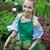 portre · kadın · bitki · pot · çiçek - stok fotoğraf © dashapetrenko