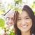 jonge · familie · voorjaar · tuin · gelukkig · gezin - stockfoto © dashapetrenko