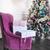 fioletowy · pokój · biały · fotel · 3D - zdjęcia stock © dashapetrenko