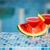 szemüveg · görögdinnye · koktél · medence · szeletek · természet - stock fotó © dashapetrenko