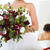 ongebruikelijk · handen · bruid · sappig · bloemen - stockfoto © dashapetrenko