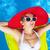 beautiful · girl · ar · colchão · retrato · feliz · piscina - foto stock © dashapetrenko