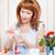 young woman painting easter eggs stock photo © dashapetrenko