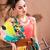 gésa · esernyő · illusztráció · virágok · lány · tánc - stock fotó © dashapetrenko