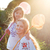 dochter · moeder · spelen · bloemen · weide · lentebloemen - stockfoto © dashapetrenko