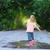 atlama · kız · küçük · kız · trambolin · kauçuk · çocuk - stok fotoğraf © dashapetrenko
