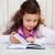 meisje · boeken · weinig · brunette · lezing - stockfoto © dashapetrenko