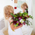 glimlachend · gelukkig · bruid · bloem · meisje · binnenshuis - stockfoto © dashapetrenko