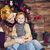 stylish mother and her child celebrating christmas in room over stock photo © dashapetrenko