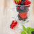 delicioso · frescos · frutas · vidrio · taza · mesa · de · madera - foto stock © dashapetrenko
