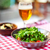 one glass of light beer with salad stock photo © dashapetrenko