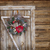christmas wreath on a rustic wooden door stock photo © dashapetrenko