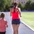 anne · küçük · kız · egzersiz · stadyum · aile - stok fotoğraf © dashapetrenko