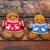 smiling christmas gingerbread men on wooden background stock photo © dashapetrenko