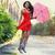 portrait of beautiful young girl with umbrella under rain stock photo © dashapetrenko
