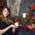 sevimli · dostça · genç · kadın · Noel - stok fotoğraf © dashapetrenko