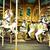 cavalos · vintage · parque · de · diversões · madeira · cavalo · pintar - foto stock © dashapetrenko