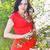 retrato · belo · mulher · grávida · vestido · vermelho · vestido · branco · florescimento - foto stock © dashapetrenko