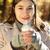 mujer · hermosa · potable · café · aire · libre · hermosa - foto stock © dashapetrenko