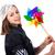 jeunes · cute · brunette · fille · éolienne · jouet - photo stock © dashapetrenko
