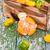 taze · narenciye · meyve · ahşap · kutu · rustik - stok fotoğraf © dashapetrenko