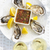 selective focus point on fresh oysters shell with lemon and glas stock photo © dashapetrenko