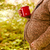 jóvenes · mujer · embarazada · otono · parque · bastante - foto stock © dashapetrenko