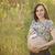 zwangere · vrouw · Blauw · buik · beige · liefde - stockfoto © dashapetrenko