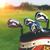 golf clubs drivers over green field background stock photo © dashapetrenko