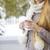 dromerig · vrouw · thee · mok · portret · aantrekkelijke · vrouw - stockfoto © dashapetrenko