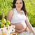 belo · mulher · grávida · flor · primavera · bebê · amor - foto stock © dashapetrenko