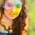 retrato · feliz · jovem · festival · jovem · menina - foto stock © dashapetrenko